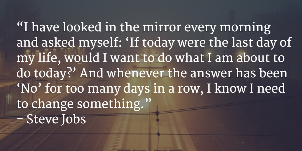 Steve Jobs on being fulfilled