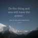Do The Thing - Ralph Waldo Emerson