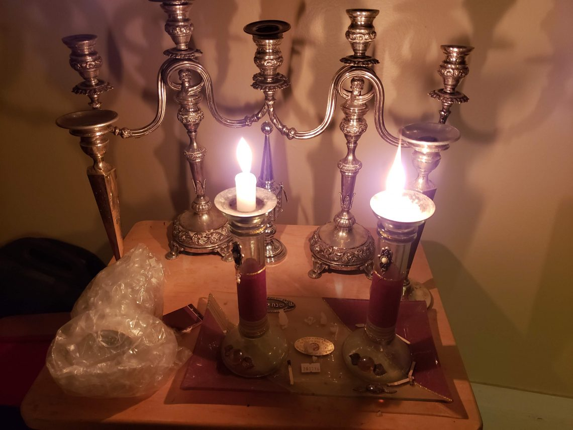 lily art candlesticks - Andrea Toole